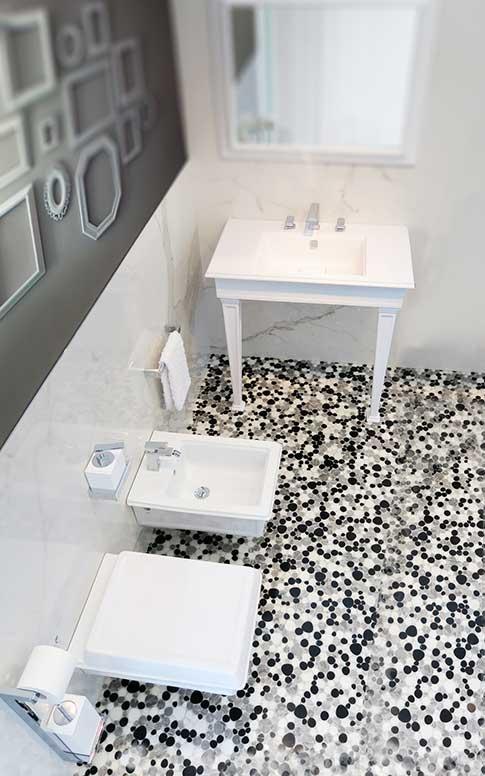 piastrelle per pavimenti in mosaico