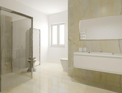 L'eleganza di un bagno dallo spirito urbano