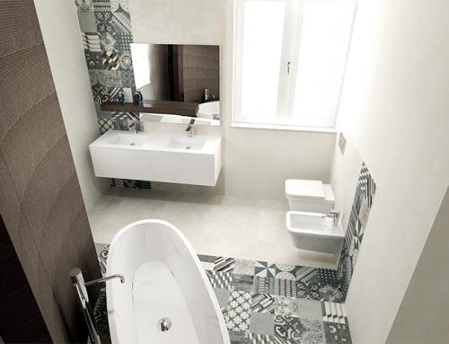 Impreziosire la sala da bagno con le trame geometriche dell'azulej