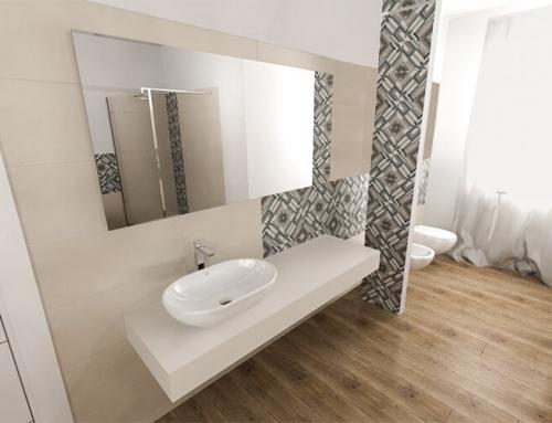 Il calore del pavimento in legno anche in bagno