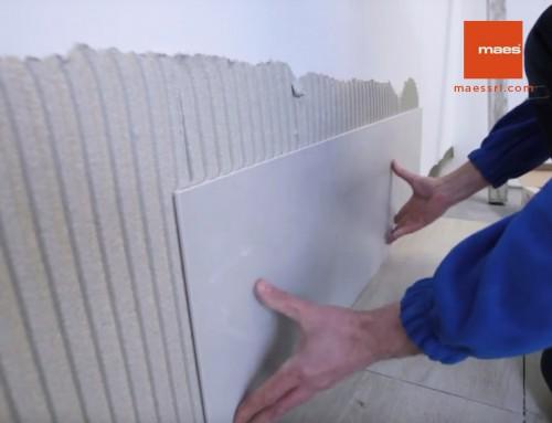 Come posare piastrella di grande formato per esterno piatto doccia