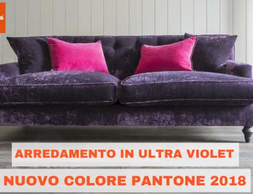 Arredamento in Ultra Violet, nuovo colore Pantone 2018