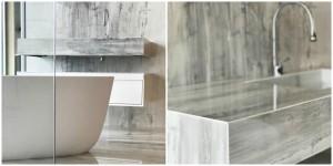 bagno in effetto marmo