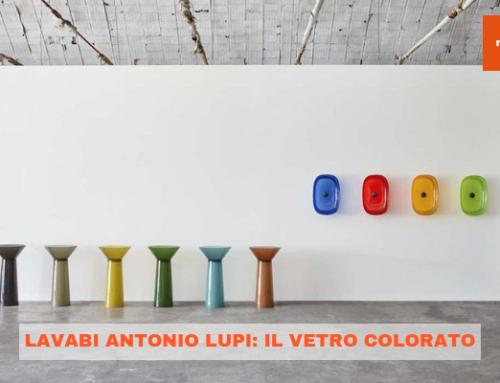 Lavabi Antonio Lupi: il vetro colorato
