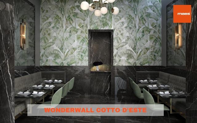 Wonderwall Cotto D'Este: il gres che sembra carta da parati